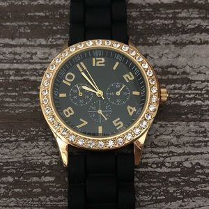 Darice Accessories - Two Silicone Watches with Rhinestone Trim